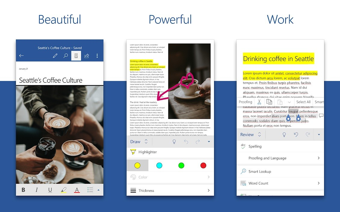 microsoft word app screenshot